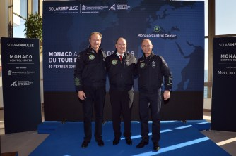 Andre Borschberg, Prince Albert and Bertrand Piccard @Charly Gallo 2015