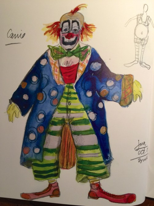 Model of Costume for Pagliacci by Jorge Jara
