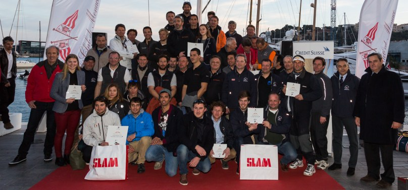 The podium with all the winners of the Primo Cup 2015 Credit Suisse Trophy