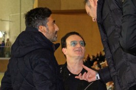 Samy from SASS and Bono form U2 at the match @CelinaLafuenteDeLavotha