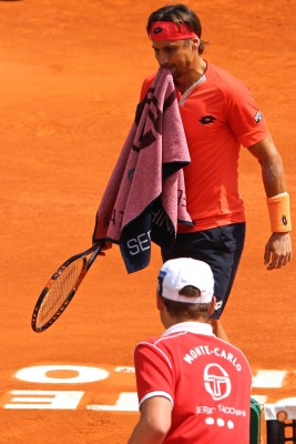 David Ferrer lost to Rafael Nadal in the quarterfinals Apr.17, 2015 @CelinaLafuenteDeLavotha