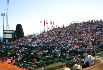 Fans filled the tribunes during first round of tennis masters in MC @CelinaLafuenteDeLavotha