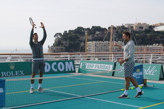 Novak and Stan during play @CelinaLafuenteDeLavotha