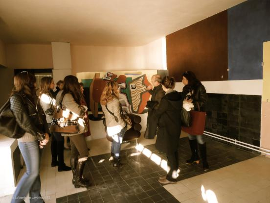 The private tour of E1027 with MPA in January 2012 @CelinaLafuentedeLavotha