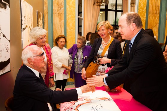 Hubert de Givenchy and HSH Prince Albert of Monaco @Franck Terlin