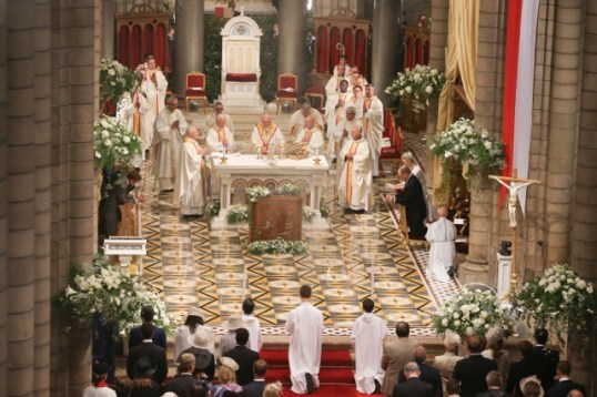 Mass at the Cathedral in Monaco, May 10, 2015 @Michel Danino-8