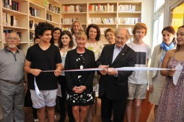 Inauguration of the Reading Corner %22Julio Cortaza%22 by Adolfo Perez Esquivel, June 11, 2015@ Manuel Vitali