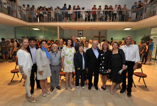 Students, teachers, Group photo with Adolfo Perez Esquivel at FANB on June 11, 2105 @Manuel Vitali