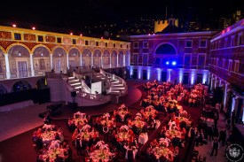 The Palace courtyard illuminated during the gala dinner @Eric Mathon_7718