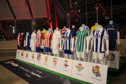Laliga exhibition in the foyer of the Grimaldi Forum @CelinaLafuenteDeLavotha