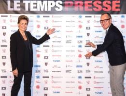 Celina Lafuente de Lavotha of Monaco Reporter and Herve Haesbach of FightAids Monaco, partners of Le Temps Presse @Richard Concept Photo