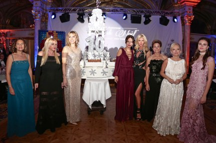 Elisa Giusti, Monika Bacardi, Inna Maier, Sandrine Garbagnati Knoell, Victoria Silvstedt, Celina Lafuente de Lavotha, Roberta Gilardi Sestito and Polina Butorina - The Christmas Ball of Monte-Carlo celebrated its 10th anniversary! @laurentcia