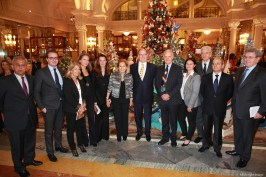 HSH Prince Albert with Louisette Levy Soussan and members of Action Innocence©EdWImages_AImc2015_0086