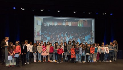More than 2000 children from all over the world participating in the selection of the Prix des Enfants (Children's Prize) @Richard Concept Photo