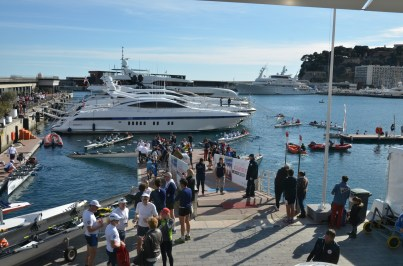 A busy Port during the competitions @Societe Nautique Monaco
