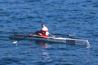 Solo rower from the Monaco team aboard Caterina @CelinaLafuenteDeLavotha