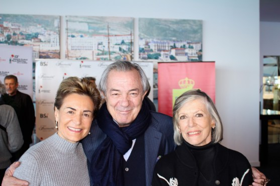 Celina with Italian actor Remo Gironi and his wife Argentine actress Victoria Zinny
