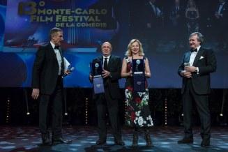 Dante Ferretti, Francesca Lo Schiavo win the career award of the 13th Monte Carlo Festival of the comedy. Award ceremony held at Grimaldi Forum in Monaco, March 6th, 2016. @ Marco Piovanotto