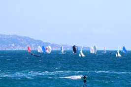 Sailing in the wind with the coast of France and Italy in the background @CelinaLafuenteDeLavotha