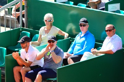 Andy Murray's camp with his Mom's in attendance @CelinaLafuenteDeLavotha