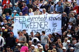 Message for Roger Federer from the fans @CelinaLafuenteDeLavotha