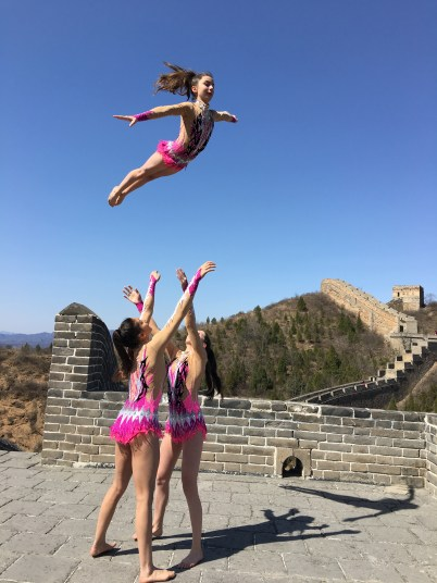 Monegasque trio by the Great Wall of China 2016@Femina Sports
