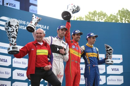 Harry Unflath, Eric Vergne, Lucas di Grassi, Sebastien Buemi @P1 Media Relations
