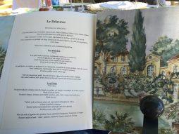 The lunch menu at Villa Gallici@CelinaLafuenteDeLavotha