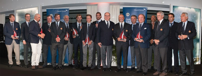 HSH Prince Albert surrounded by all the award receivers YCMAwards2016@Franck Terlin