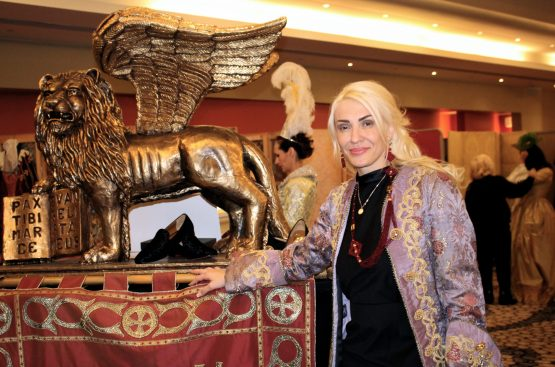Delia Grace Noble founder of the Grand Masked Ball of Venice in Monte-Carlo 2017 @CelinaLafuentedeLavotha