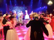 Guests on the dance floor at midnight at the Grand Masked Ball of Venice in Monte-Carlo 2017 @CelinaLafuentedeLavotha
