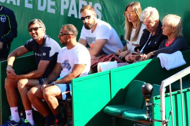 Berdych camp with coach Goran Ivanisevic and Mme Berdych MCRM2017@CelinaLafuentedeLavotha