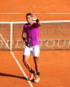 Rafael Nadal saluting his public after his victory over Goffin MCRM17@CelinaLafuentedeLavotha