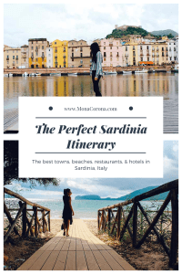 Planning a trip to Sardinia, Italy? Read this guide to learn all about the best places to go in Sardinia, the best things to do in Sardinia, the best restaurants in Sardinia, the best hotels in Sardinia, and everything you need to know before going to Sardinia, Italy! | MonaCorona.com | #sardinia #italy #europe #travel #traveltips #travelinspo #travelguide #wanderlust #islands #beach #costasmeralda #portocervo #alghero #bosa #olbia #beach #honeymoon #hotel #cagliari #lamaddalena #itinerary