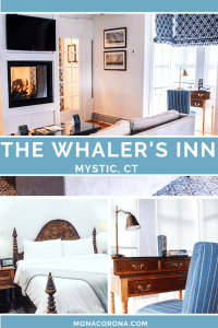 Looking for a cozy fall destination in the US? Click here to read all about New England's most charming hotel, The Whaler's Inn of Mystic, Connecticut. In this blog post you will also find the top things to do in Mystic, where to eat in Mystic, and the best places to see the beautiful fall foliage in Mystic, CT. | MonaCorona.com | #USA #travel #northamerica #Connecticut #mysitcct #fall #autumn