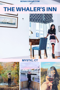 Looking for a cozy fall destination in the US? Click here to read all about New England's most charming hotel, The Whaler's Inn of Mystic, Connecticut. In this blog post you will also find the top things to do in Mystic, where to eat in Mystic, and the best places to see the beautiful fall foliage in Mystic, CT. | MonaCorona.com | #USA #travel #northamerica #Connecticut #mysitcct #fall #autumn #newengland