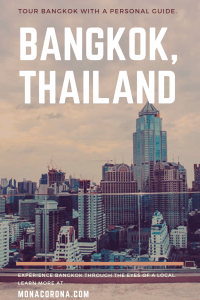 Click this pin to read about what to do in Bangkok, Thailand and how to book private tour guides in Bangkok to see Bangkok temples, floating markets, best restaurants in Bangkok and more! | MonaCorona.com | @TakeMeTour | #bangkok #thailand #travelguide #hotels #travel #floatingmarket #thingsdoinbangkok #shoppinginbangkok #tours #itinerary #bangkokitinerary #rooftopbar #restaurant #rooftop #cheapflights #tourguide