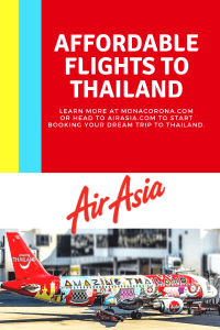 Looking for cheap flights to Thailand? Click here to learn how to find cheap flights to Chiang Mai with AirAsia in this Chiang Mai day trip travel guide. Fly Air Asia for affordable flights to Bangkok or other major cities in Thailand or throughout Asia. | MonaCorona.com | #thailand #travel #flights #hotels #chiangmai #bangkok #thingstodo #airline #southeastasia #temples #elephantsanctuary #nimmanroad #lampang #digitalnomad #expat #travelblogger