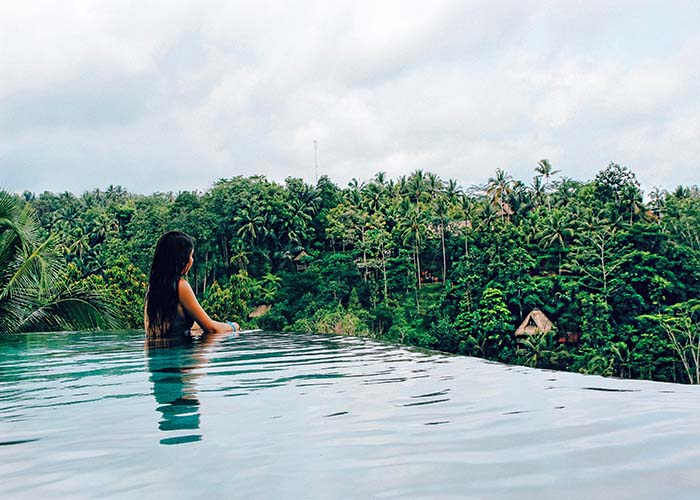 best infinity pool ubud
