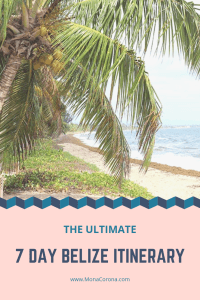 Click here to see the ultimate 7-day Belize Itinerary   Read all about the the top things to do in Belize, where to stay in Belize, the best hotels in Belize, and the best restaurants in Belize.   7 Day Belize Itinerary in Ambergris Caye, Caye Caulker, and Hopkins   #belize #centralamerica #ambergriscaye #cayecaulker #hopkins #travel #hotels #restaurants #honeymoon #beach #sanpedro #vacation #islands #resorts #jungle #bluehole #barrierreef #scubadiving #snorkeling #itinerary #ruins #cavetubing