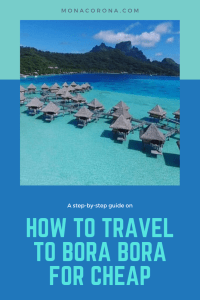 Click through to learn how you can travel hack your way to Bora Bora for FREE / Cheap! This affordable travel Bora Bora vacation guide will teach you what you need to do to get flights to Bora Bora and stay in a Bora Bora overwater bungalow. I'll show you exactly what I did step-by-step to have a luxury Bora Bora vacation / holiday for a fraction of the cost. I was able to secure free flights to Tahiti and stay in an overwater villa 4 nights for free. #borabora #tahiti #frenchpolynesia #bungalow