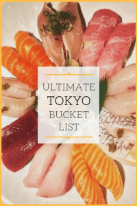 Click for the ultimate Tokyo Bucket List! This Tokyo travel guide shares all the top things to do in Tokyo to have the most epic & kawaii Tokyo trip ever! Learn about all the fun, crazy, and best things to do in Tokyo, Japan and get some great ideas for your Tokyo itinerary. Your Tokyo vacation/Tokyo holiday will be one to remember. Explore the best of Shibuya, Shinjuku and more with themed cafes, the best sushi in tokyo, and wild experiences | #monacorona #tokyo #travel #Japan #itinerary #asia