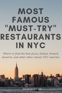 Ultimate list of the best restaurants in NYC. Where to eat in NYC, where to eat in New York, where to eat in Manhattan, where to eat in Brooklyn, best pizza in NYC, best pizza in Manhattan, best Italian restaurants NYC, best NYC bagels, best pastrami NYC Manhattan New York, best desserts NYC, best dessert Manhattan, best steakhouse NYC, best steakhouse Manhattan, best bakery NYC, Momofuku, east village, west village, upper westside, Chelsea, midtown, New York City foodie list #NYC #restaurants