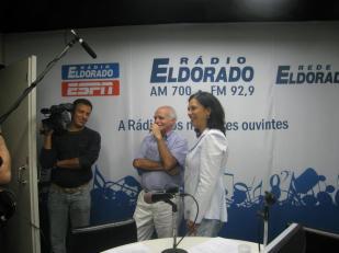 Com Ignácio de Loyola Brandão na Rádio Eldorado