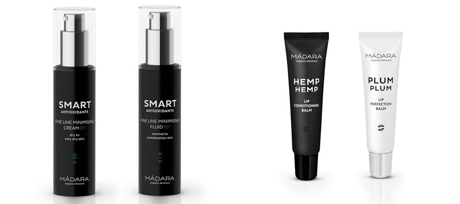 Madara Lip Balms och Smart Antioxidant Day Cream
