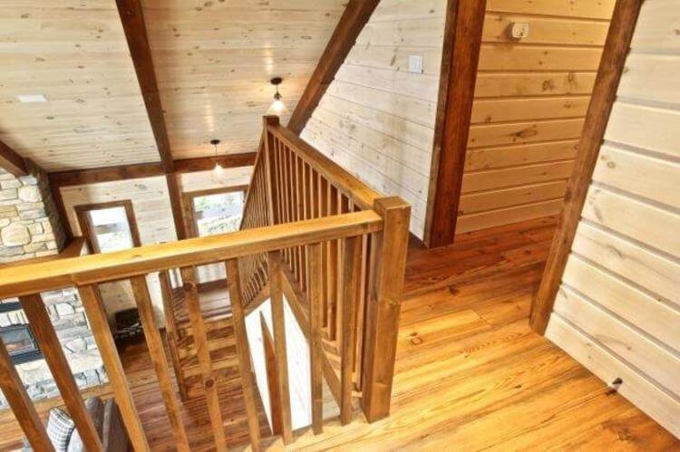 Stair Components Building Supplies Monaghan Lumber | Knotty Pine Stair Railing | Tongue Groove | Antique Wooden Stair | Log | White | Newel Post