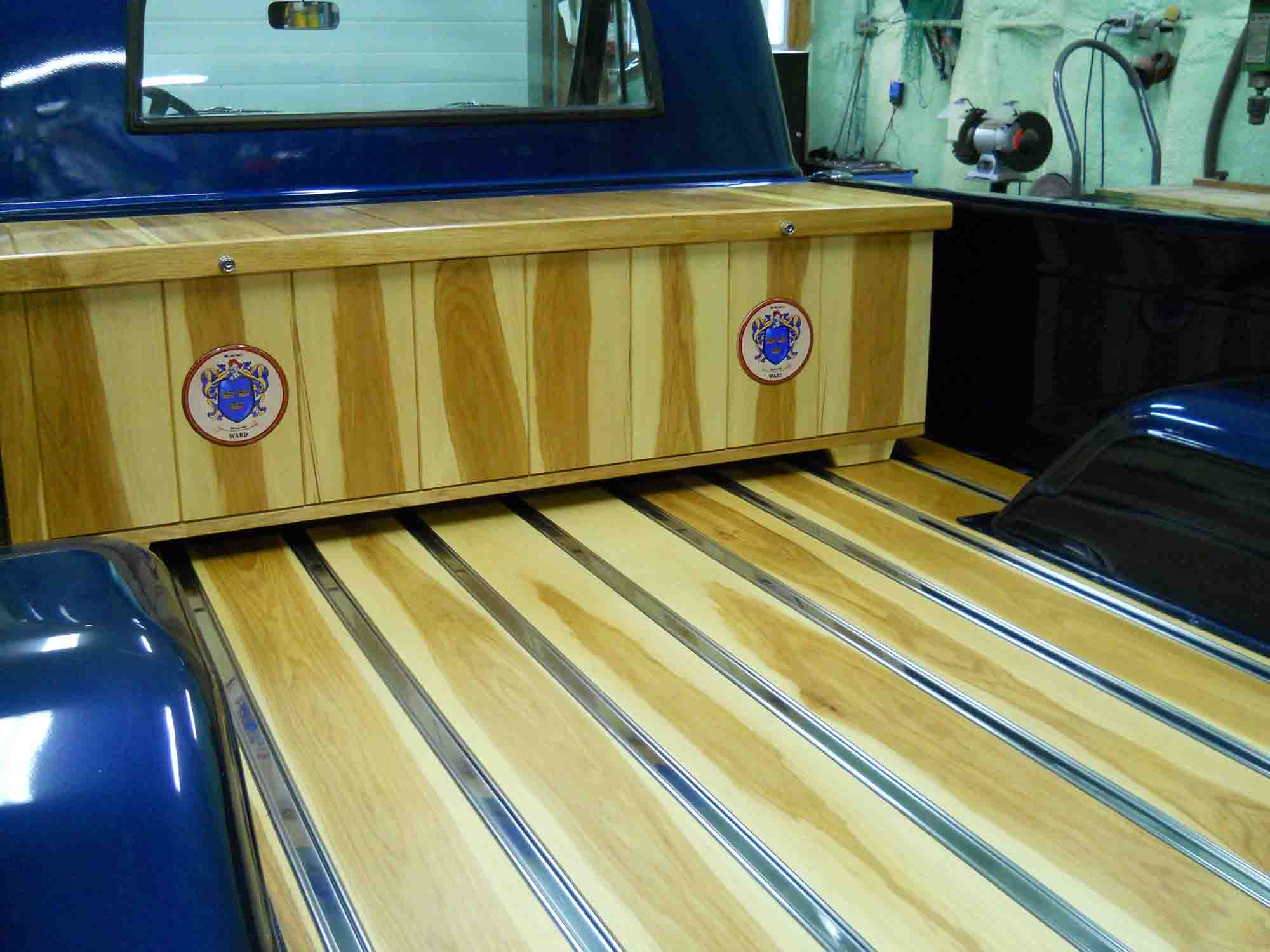 Amazing Wooden Truck Bed Built With Hickory Monaghan Lumber