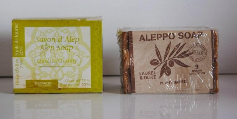 deux types de savon d'Alep