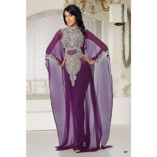 robe Dubai violette mariage oriental