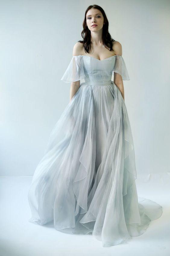 robe-demoiselle-d'honneur-longue-drapés-off-shoulders